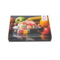 Лукум ассорти кубики (клубника, апельсин, яблоко, банан)